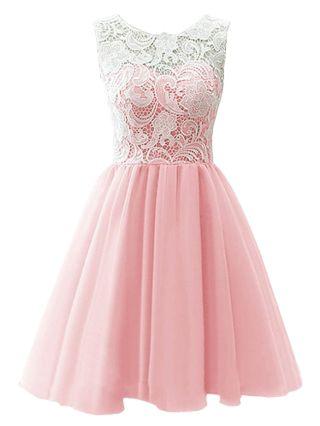 Short Graduation Dress Lace Stitching Single Breasted Bridesmaid Evening Dresses