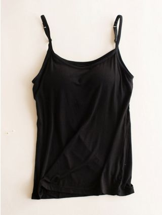 Summer Slip Vest Round Neck Modal Tank Tops with Pad