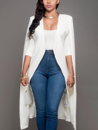 Plus Size Fall New Personality Long Cloak Women Suit Coat