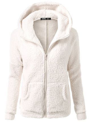 Women Plus Size Solid Color Thickening Cashmere Hoodies