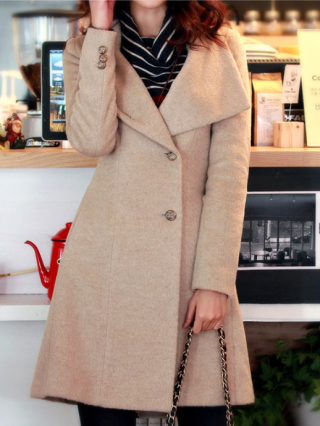 Fall and Winter Single Breasted Double-sided Wool Trench Coat