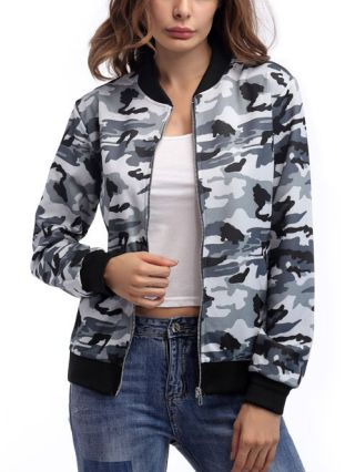 Spring and Fall New Camouflage Coat Fashion Zipper Jackets