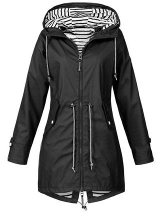 Sports Coat Climbing Outdoor Hiking Hooded Zipper In Front Plus Size Tops For Woman