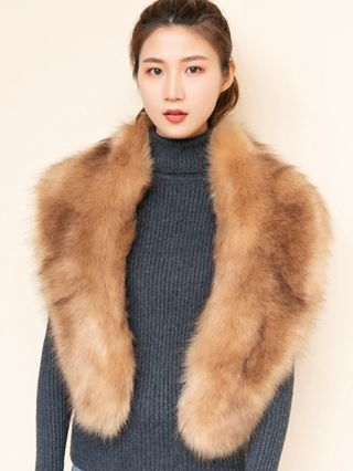 Chic Scarves For Woman Faux Fur Fall Winter Warm Shawl