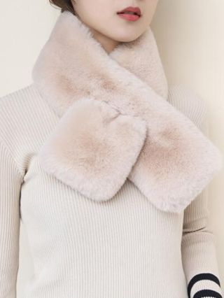 2020 New Cute Scarves Warm Fluffy Autumn Winter Korean Accessories For Woman