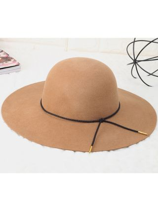 2020 Fashion Simple Hats Adjustable Large Brim Fall Winter Warm Accessories For Woman