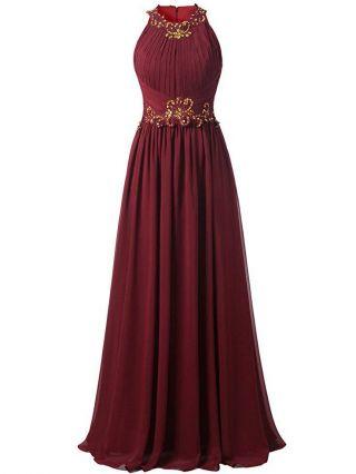 Homecoming Dress Burgundy Dress Black Dress Sleeveless Round Neck Lace Rhinestone Stitching Maxi Evening Prom Dresses