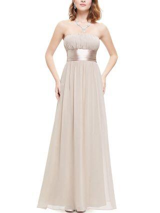 Tube Top Homecoming Dress White Black Dress Open Back Big Bowknot Maxi Chiffon Bridesmaid Evening Dresses