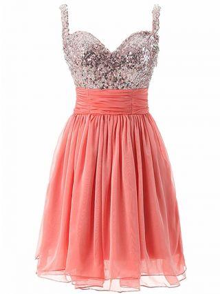 Homecoming Dress Orange Dress Black Dress Sequins Sleeveless Open Back Short Bridesmaid Evening Dresses