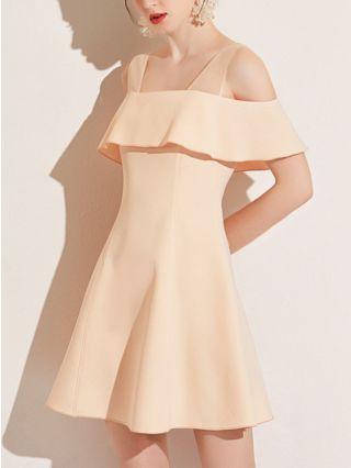 Bridesmaid Dress Champagne Dress Satin Gauze Stitching Ruffled Homecoming Dress Short Banquet Party Evening Dresses