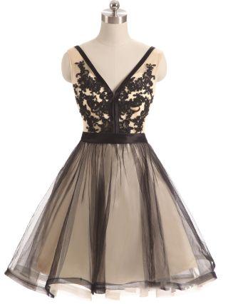 Bridesmaid Dress Black Dress Sleeveless V-Neck Lace Gauze Stitching Homecoming Dress Short Party Evening Dresses