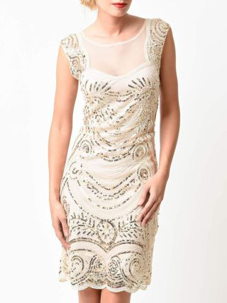 1920s Gatsby Vintage Sequined Dress 2020 Summer Short Gown Dresses
