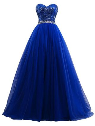 Long Quinceanera Wedding Evening Dress Strapless Sequined Stitching Mesh Chiffon Bridesmaid Formal Party Gown Dresses