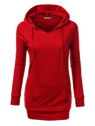 Casual Hooded Outfits Long-sleeved Cotton Hoodies with Pocket