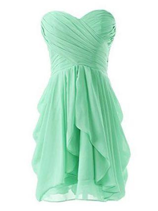 Fashion Bridesmade Bandeau Short Chiffon Dresses