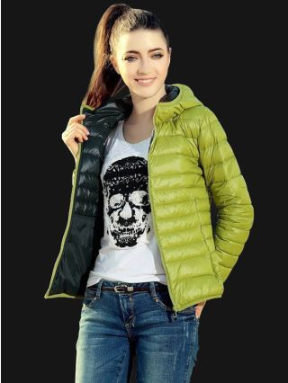 Fashion Short Thin Hooded Cotton Padded Jacket for Men/Women