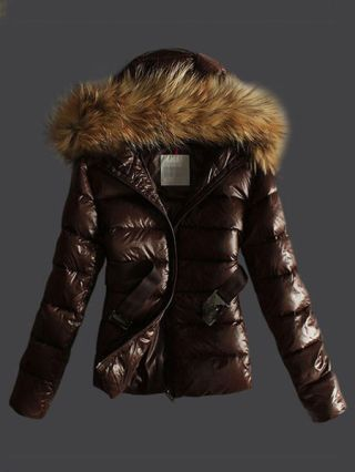 Korean Fashion Raccoon Fur Hooded Thick Short Down Jacket with Belt