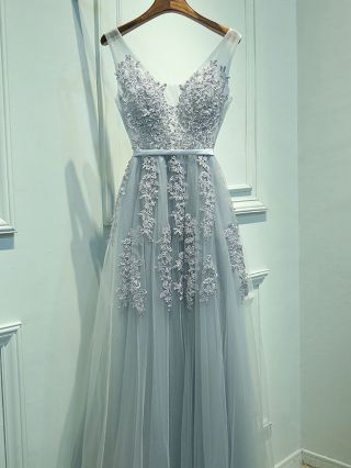 Long Prom Party Dresses Fashion Beaded Lace Embroidery Stitching Mesh Backless Maxi Wedding Evening Formal Dress