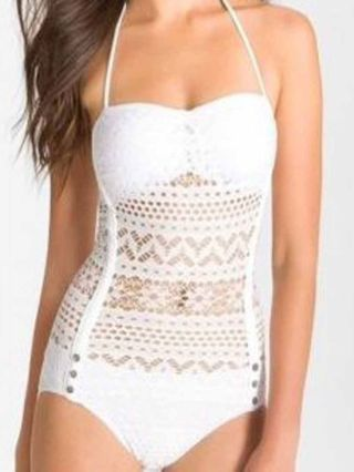 Sexy One-piece Swimsuits Lace Hollow Swimwear for Women