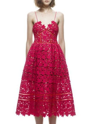 Straps Openwork Summer Swing Lace Valentines Day Dresses