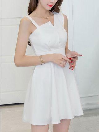 Short Graduation Dress Elegant Sleeveless Cotton High-waisted Backless Mini Evening Dress