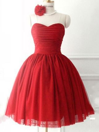 Short Puffy Homecoming Prom Dresses Burgundy Ball Gown Sweetheart Cocktail Party Gowns with Lace up