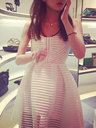 Summer See-through Hollow High-waisted Short Dress